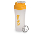 BLENDER BOTTLE SUPER SHAKER MEZCLADOR W/BALL 600ML YELLOWCAP